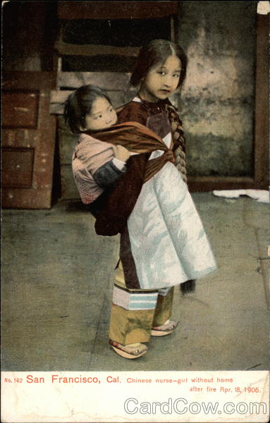 Chinese nurse-girl without home after fire, Apr. 18, 1906 San Francisco California