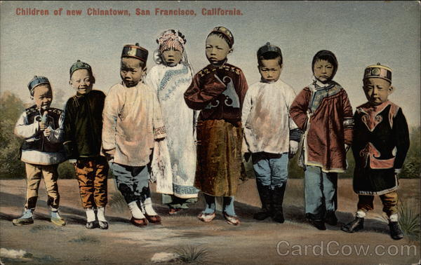 Children of New Chinatown San Francisco California