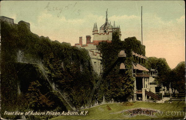 Front View of Auburn Prison New York Prisons