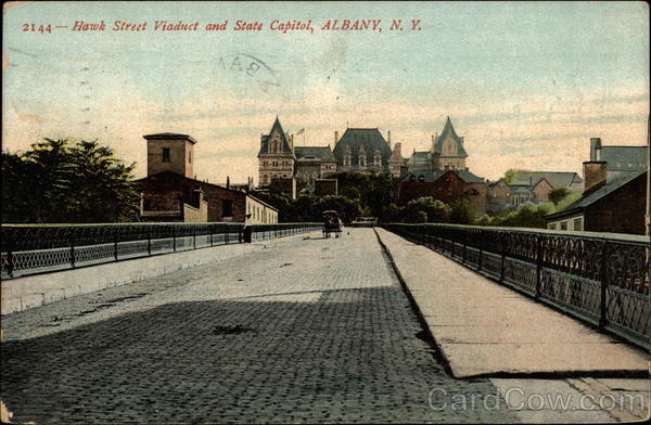Hawk Street Viaduct and State Capitol Albany New York