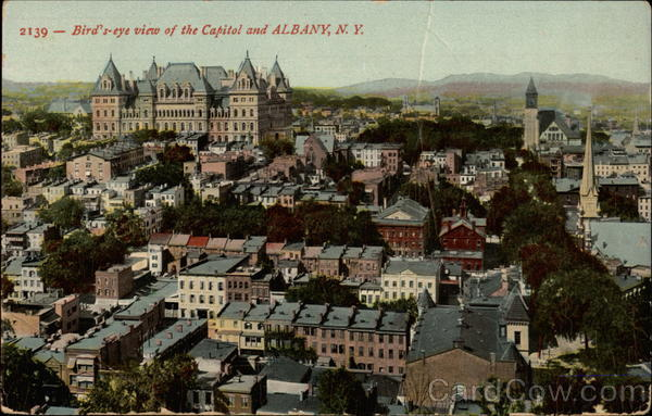 Bird's-eye view of the Capitol Albany New York