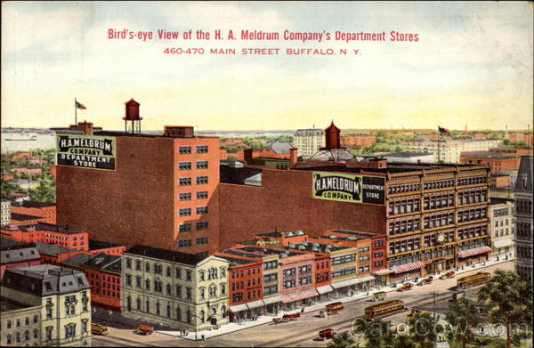 Bird's-eye view of the H.A. Meldrum Company's Department Stores Buffalo New York