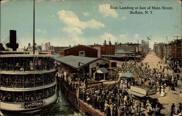 Boat Landing at foot of Main Street Buffalo New York