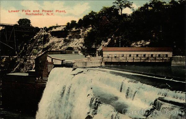 Lower Falls and Power Plant Rochester New York