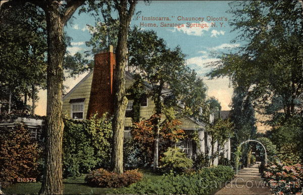 Inniscarra, Chauncey Olcott's Home Saratoga Springs New York
