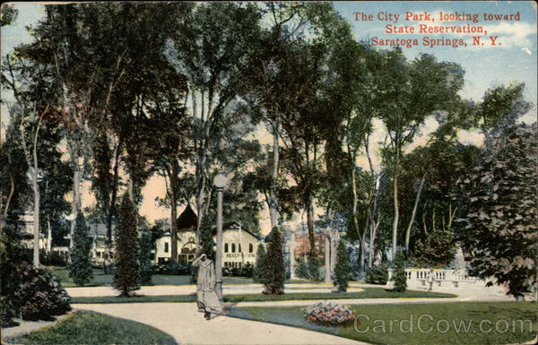 The City Park, Looking Toward State Reservation Saratoga Springs New York