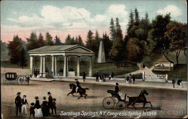 Congress Spring in 1848 Saratoga Springs New York
