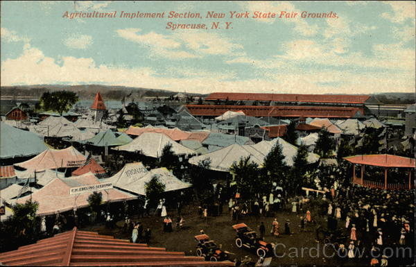 Agricultural Implement Section, New York State Fair Grounds Syracuse