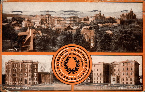 Syracuse University, Founded A.D. 1870 New York