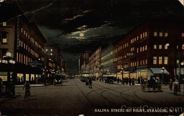 Salina Street By Night Syracuse New York