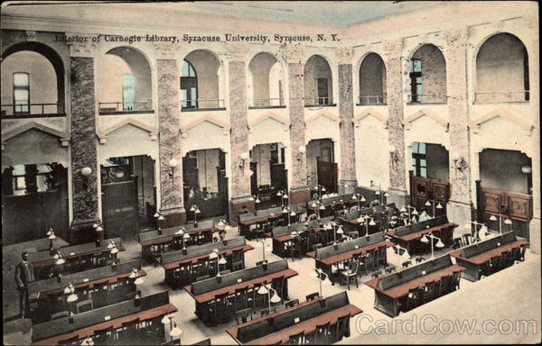 Interior of Carnegie Library, Syracuse University New York