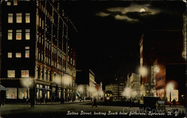 Salina Street, looking South from Jefferson Syracuse New York