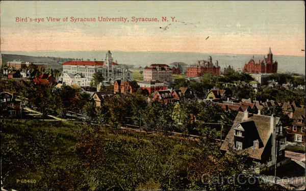 Bird's-eye View of Syracuse University New York