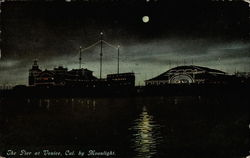The Pier at Venice, California by Moonlight