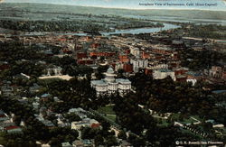 Aeroplane View of Sacramento, State Capital