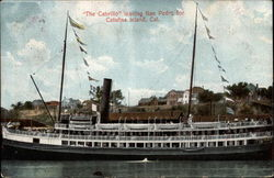 """The Cabrillo"" leaving San Pedro Postcard"