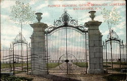 Flower Memorial Gates, Brookside Cemetary