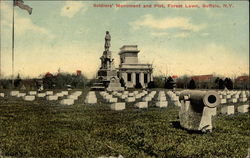 Soldiers' Monument and Plot, Forest Lawn