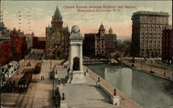 Clinton Square, Showing Soldiers' and Sailors' Monument