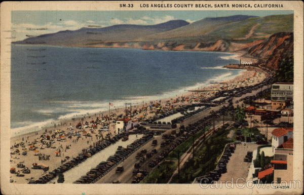 Los Angeles County Beach Santa Monica California