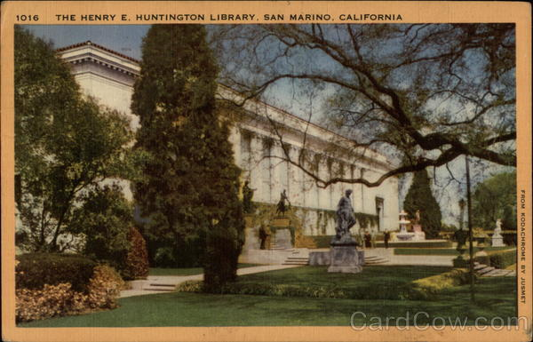 The Henry E. Huntington Library San Marino California