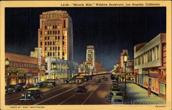Miracle Mile, Wilshire Boulevard Los Angeles California