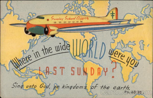 Sunday School Clipper Aircraft Religious