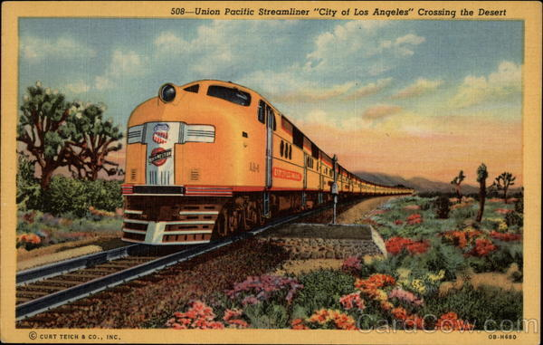 Union Pacific Streamliner City of Los Angeles Crossing the Desert