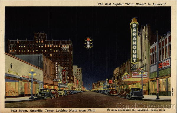 The best lighted Main Street in America Amarillo Texas