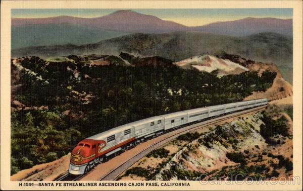 Santa Fe Streamliner Cajon Pass California