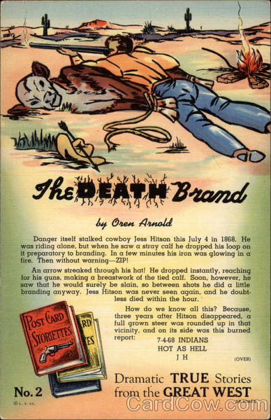The death brand by Oren Arnold Cowboy Western