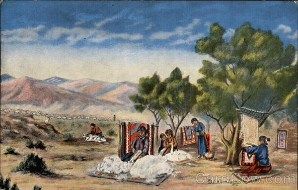 The Navajo, oil painting Native Americana