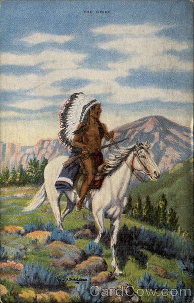 Indian on Horseback Native Americana