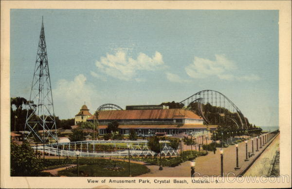 View of Amusement Park Crystal Beach Canada Ontario