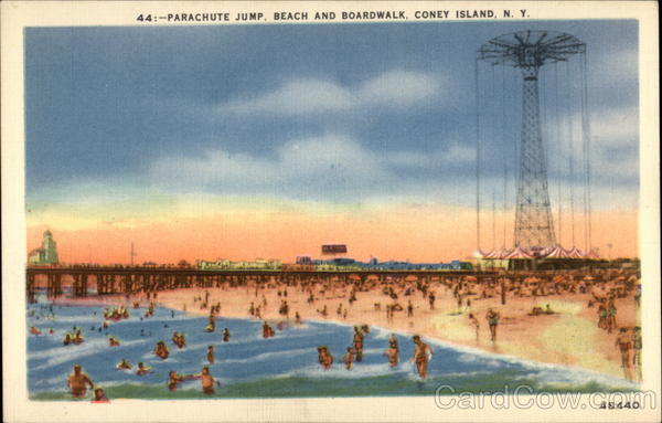 Parachute Jump, Beach and Boardwalk Coney Island New York