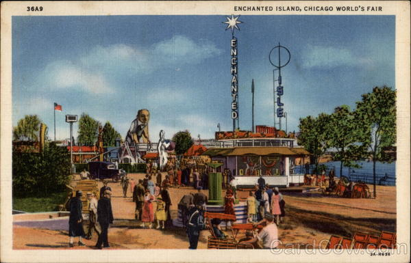Enchanted Island, Chicago World's Fair Illinois 1933 Chicago World Fair