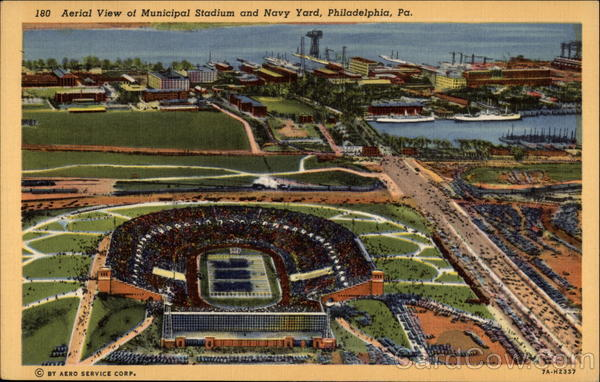 Aerial View of Municipal Stadium and Navy Yard Philadelphia Pennsylvania