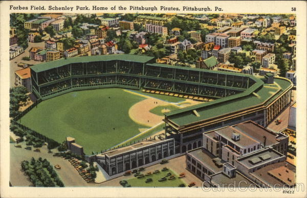 Forbes Field, Schenley Park, Home of the Pittsburgh Pirates Pennsylvania
