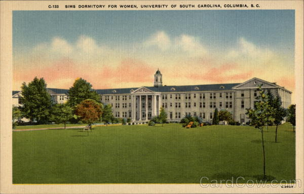 Sims Dormitory for Women, University of South Carolina Columbia