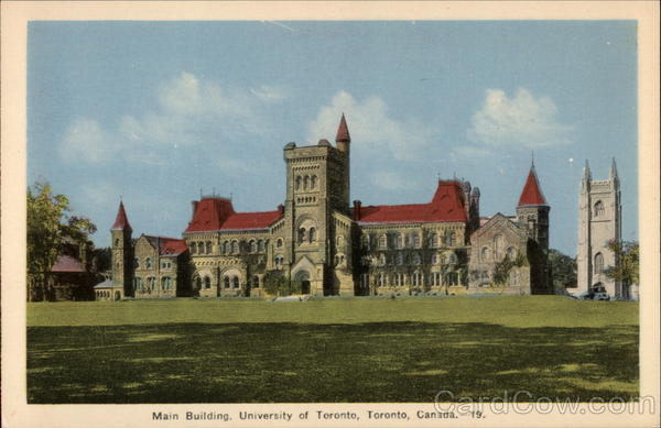 Main Building, University of Toronto Canada Ontario