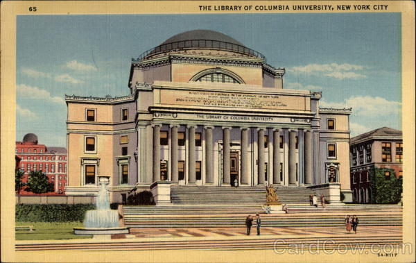 The Library of Columbia University New York City