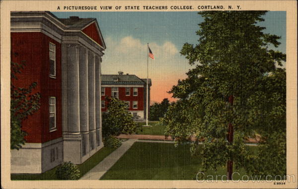 A Pictureque View of State Teachers College Cortland New York