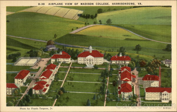 Airplane View of Madison College Harrisonburg Virginia