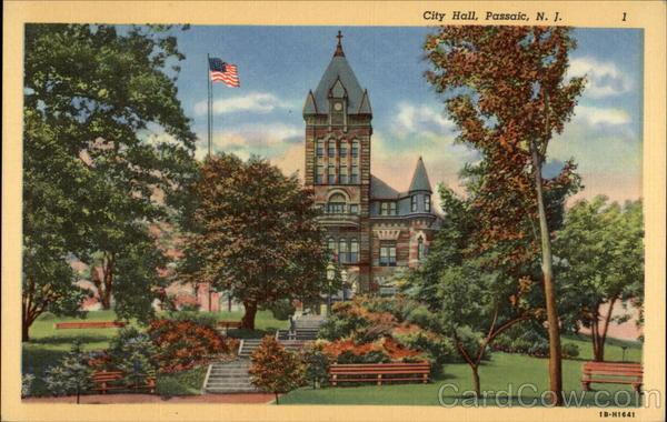 City Hall and park, Passaic, N. J. - Digital Commonwealth