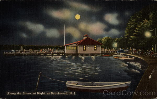 Along the Shore, at Night Beachwood New Jersey