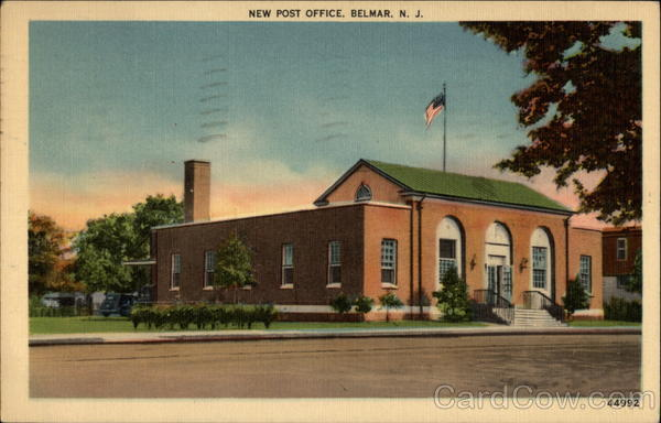 New Post Office Belmar New Jersey
