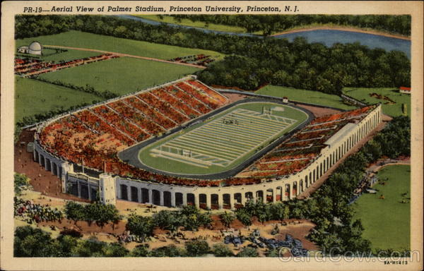Aerial View of Palmer Stadium, Princeton University New Jersey