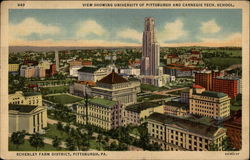 View Showing Universtity of Pittsburgh and Carnegie Tech. School