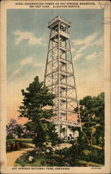 Steel Observation Tower of Hot Springs Mountain