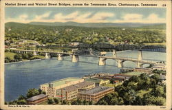 Market Street and Walnut Street Bridges across the Tennessee River